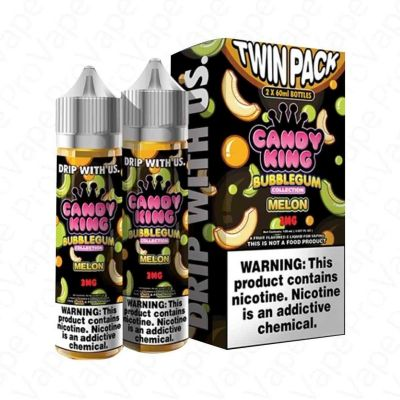MELON BUBBLEGUM COLLECTION - CANDY KING - 2 X 60ML-0mg