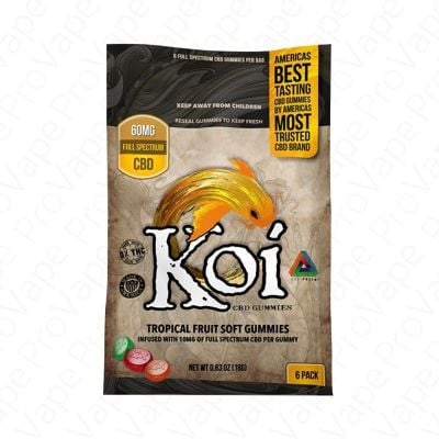 Tropical Fruit Soft Gummies 60mg CBD Koi 6PCS