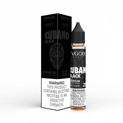 Cubano Black – SaltNic Labs – VGOD – 30mL