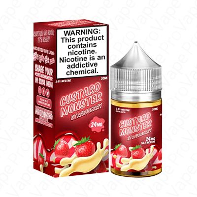 STRAWBERRY - SALT - CUSTARD MONSTER - 30ML-24mg