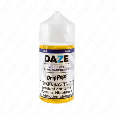 Blue Raspberry Drip Pops 7 Daze 60mL-0mg