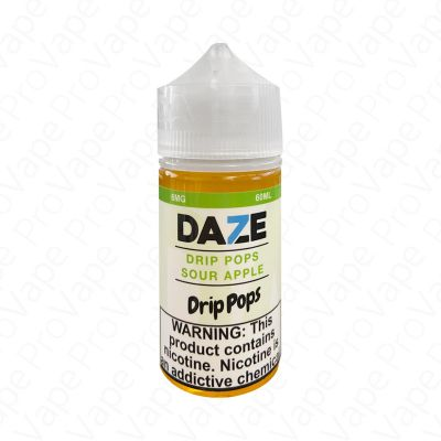 SOUR APPLE - DRIP POPS - 7 DAZE - 60ML-0mg