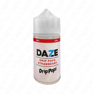 STRAWBERRY - DRIP POPS - 7 DAZE - 60ML-0mg