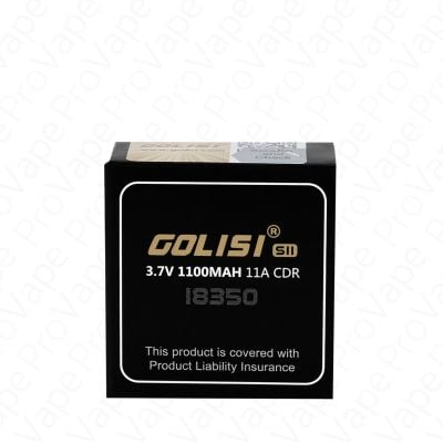 Golisi SII 18350 1100mAh 11A Rechargeable Battery 2PCS