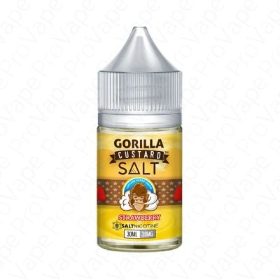 STRAWBERRY - SALT - GORILLA CUSTARD - 30ML-30mg