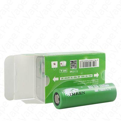 IMREN 18650 35A Green Rechargeable Battery 2PCS