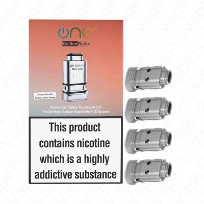 OneVape Golden Ratio Replacement Coils 4PCS