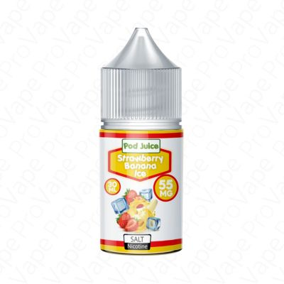 Strawberry banana Ice Salt Pod Juice 30mL