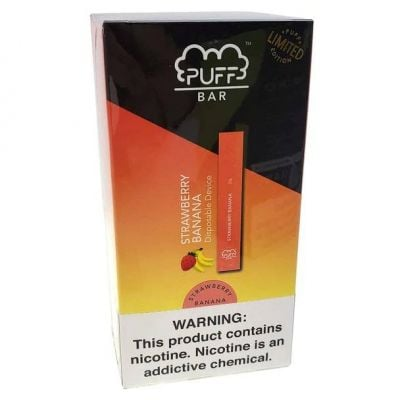 Strawberry Banana Puff Bar Disposable Pod Device 5%