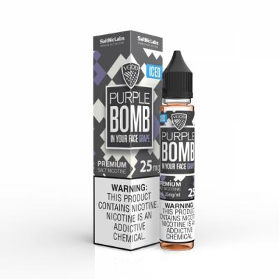 PURPLE BOMB ICED - SALTNIC LABS - VGOD - 30ML-25mg