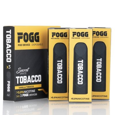Tobacco - FOGG Disposable Pod Device - 5% Nicotine - 3-Pack