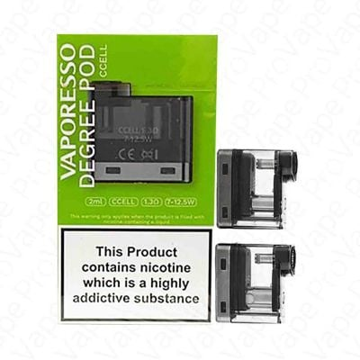 VAPORESSO - DEGREE - REPLACEMENT POD 2ML - 2PCS-CCELL 1.3ohm