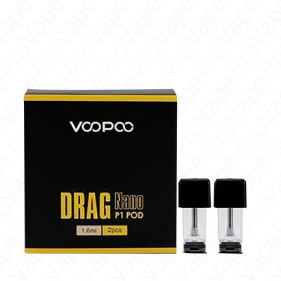 VOOPOO - DRAG NANO P1 - REPLACEMENT POD CARTRIDGE - 2PCS-1.6ml
