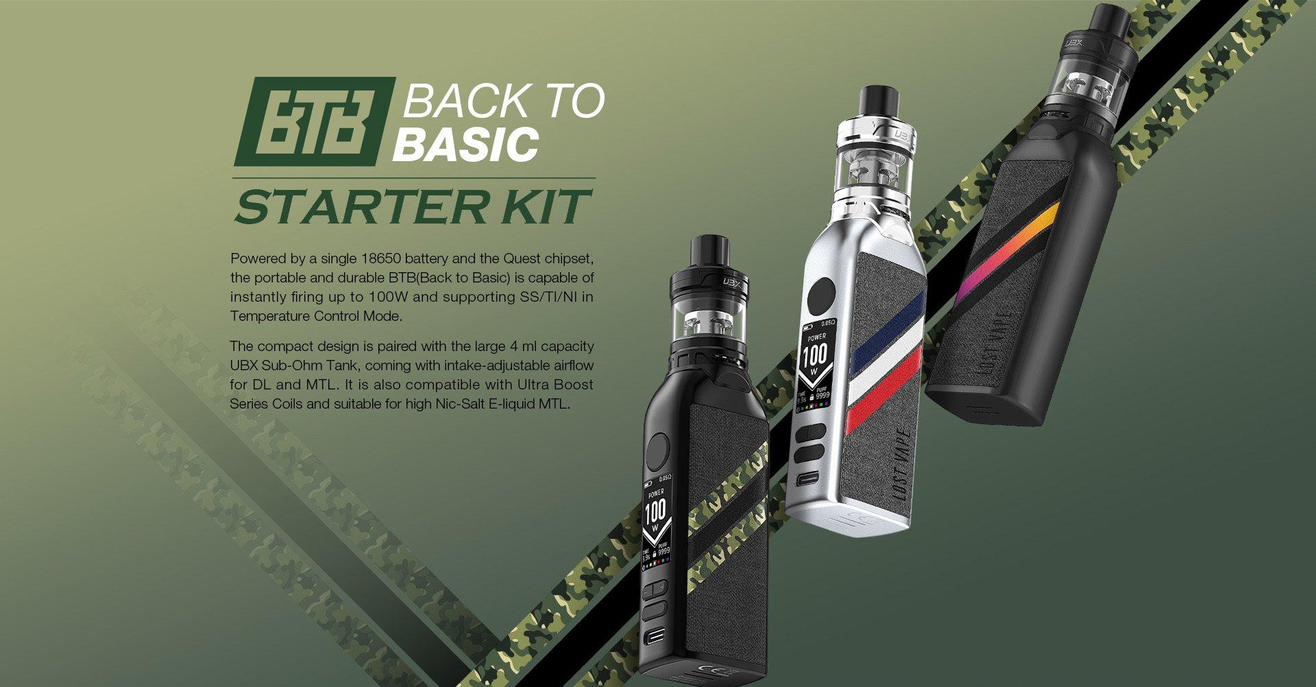 Lost Vape BTB 100W Starter Kit Review