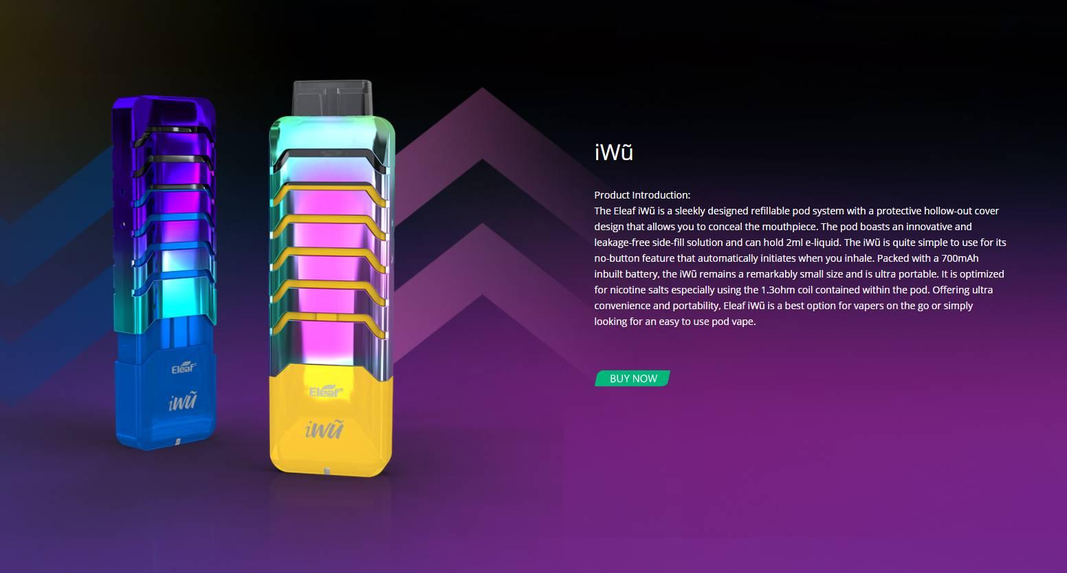 Eleaf iWũ 15W Pod System Kit Review