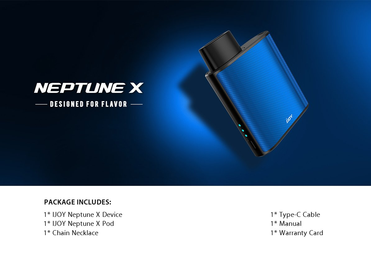 IJoy Neptune X 14W Pod Whats Included