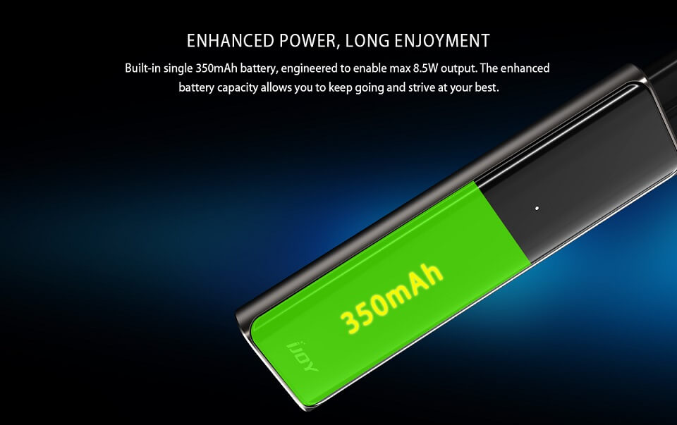 iJoy Luna 11W Pod System Review Battery