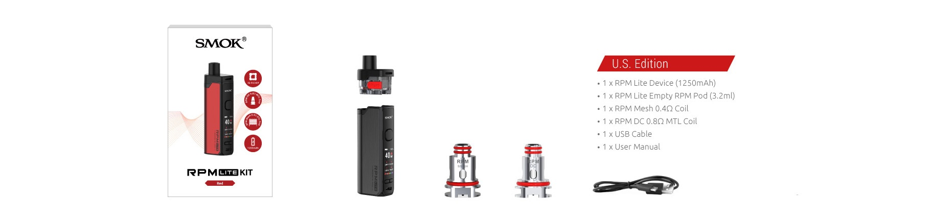 Smok RPM Lite Kit Whats Included